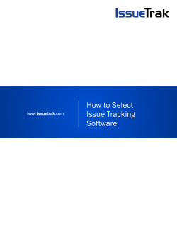 How to Select Issue Tracking Software