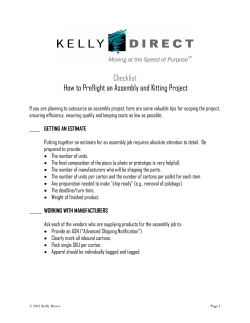 Checklist How to Preflight an Assembly and Kitting Project