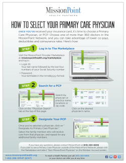 How to select your primary care physician