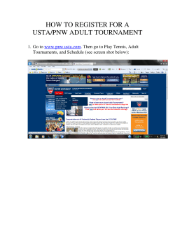 HOW TO REGISTER FOR A USTA/PNW ADULT TOURNAMENT  Go to