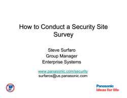How to Conduct a Security Site Survey Steve Surfaro