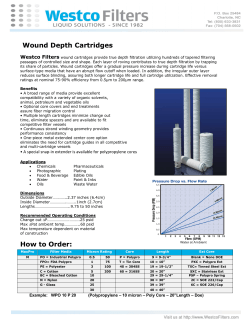 Wound Depth Cartridges Westco Filters