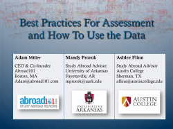 Best Practices For Assessment and How To Use the Data Adam Mandy Prorok