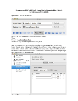 How to setup REW with Umik-­‐1 on a Mac in... by Taichiman (7/19/2013) Open LineIn and set as follows: