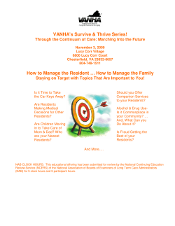 VANHA's Survive & Thrive Series!