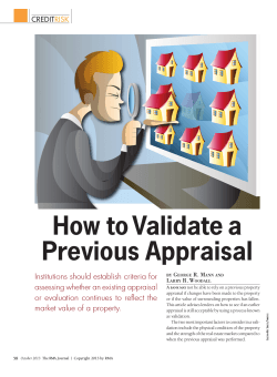 How to Validate a Previous Appraisal