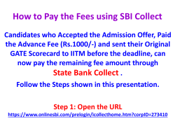 How to Pay the Fees using SBI Collect