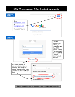 HOW TO: Access your SIGs / Google Groups profile STEP 1.