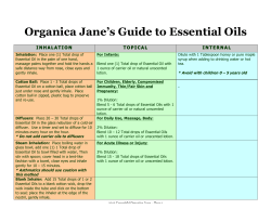 Organica Jane's Guide to Essential Oils