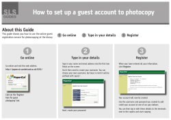 SLS How to set up a guest account to photocopy