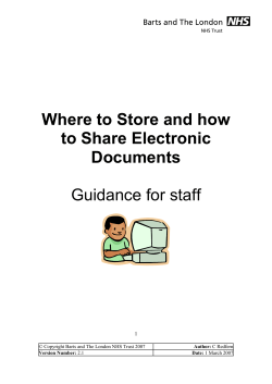 Where to Store and how to Share Electronic Documents