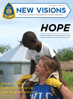 HOPE Inside look for: Convention Wrap-Up How to be an Advocate
