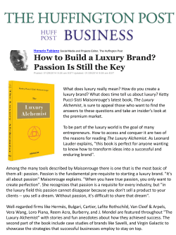 How to Build a Luxury Brand? Passion Is Still the Key
