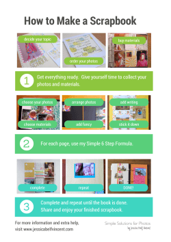 How to Make a Scrapbook 1 photos and materials.