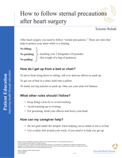 How to follow sternal precautions after heart surgery Toronto Rehab