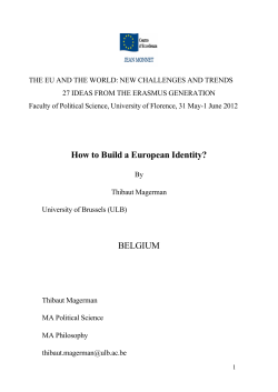 THE EU AND THE WORLD: NEW CHALLENGES AND TRENDS
