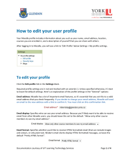 How to edit your user profile