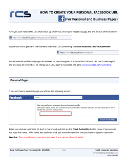 HOW TO CREATE YOUR PERSONAL FACEBOOK URL