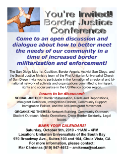 Come to an open discussion and time of increased border