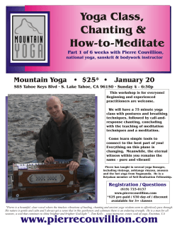 Yoga Class, Chanting & How-to-Meditate Mountain Yoga