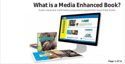 What is a Media Enhanced Book? Page 1 of 11