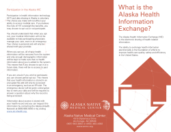 What is the Alaska Health Information Participation in the Alaska HIE