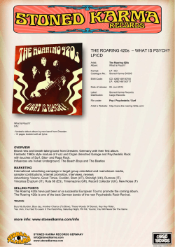 THE ROARING 420s  – WHAT IS PSYCH? LP/CD