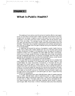 What Is Public Health? Chapter 1
