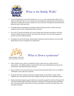What is the Buddy Walk?