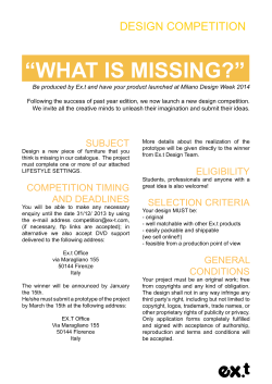 """WHAT IS MISSING?"" DESIGN COMPETITION"