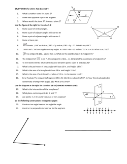STUDY GUIDE for Unit 1 Test Geometry 1. Z?