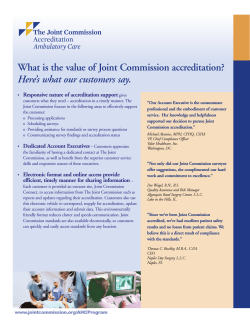 What is the value of Joint Commission accreditation?