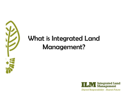 What is Integrated Land Management?