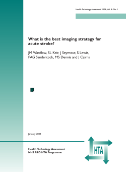 HTA What is the best imaging strategy for acute stroke?