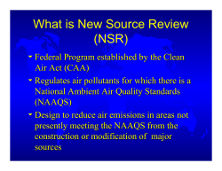 What is New Source Review (NSR)