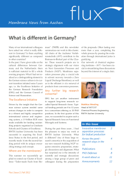 What is different in Germany? Membrane News from Aachen