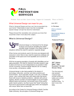 What Universal Design can mean for you. Website