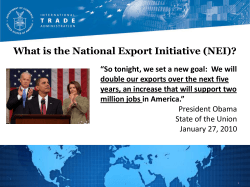 What is the National Export Initiative (NEI)?