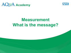 Measurement What is the message?
