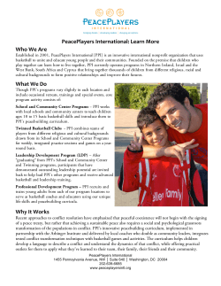 PeacePlayers International: Learn More  Who We Are