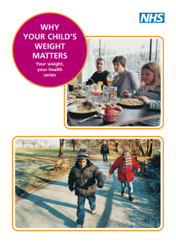 WHY YOUR CHILD'S WEIGHT MATTERS