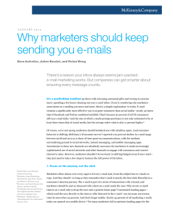 Why marketers should keep sending you e-mails
