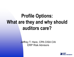 Profile Options: What are they and why should auditors care?