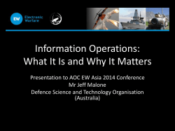 Information Operations: What It Is and Why It Matters