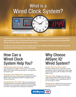 A wired clock system consists of a master clock that... linked together by wires. Synchronized wired clocks are accurate to +...