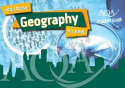 Geography why choose A Level