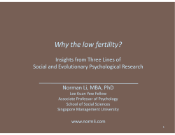 Why the low fertility?