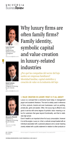 Why luxury firms are often family firms? Family identity, symbolic capital