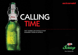 time calling Why SABMiller Should Stop dodging tAxeS in AfricA