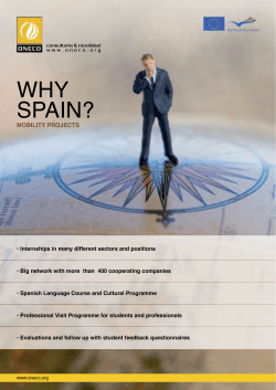 WHY SPAIN? MOBILITY PROJECTS